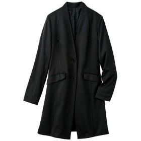 40%OFF【レディース大きいサイズ】 カットソーロングジャケット - セシール ■カラー:ブラック ■サイズ:3L,5L,4L