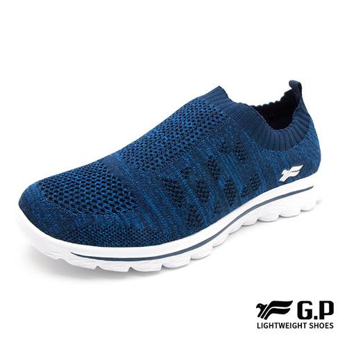 【G.P 女款微笑襪式懶人鞋】P5862W-20 藍色 (SIZE:36-40 共二色)