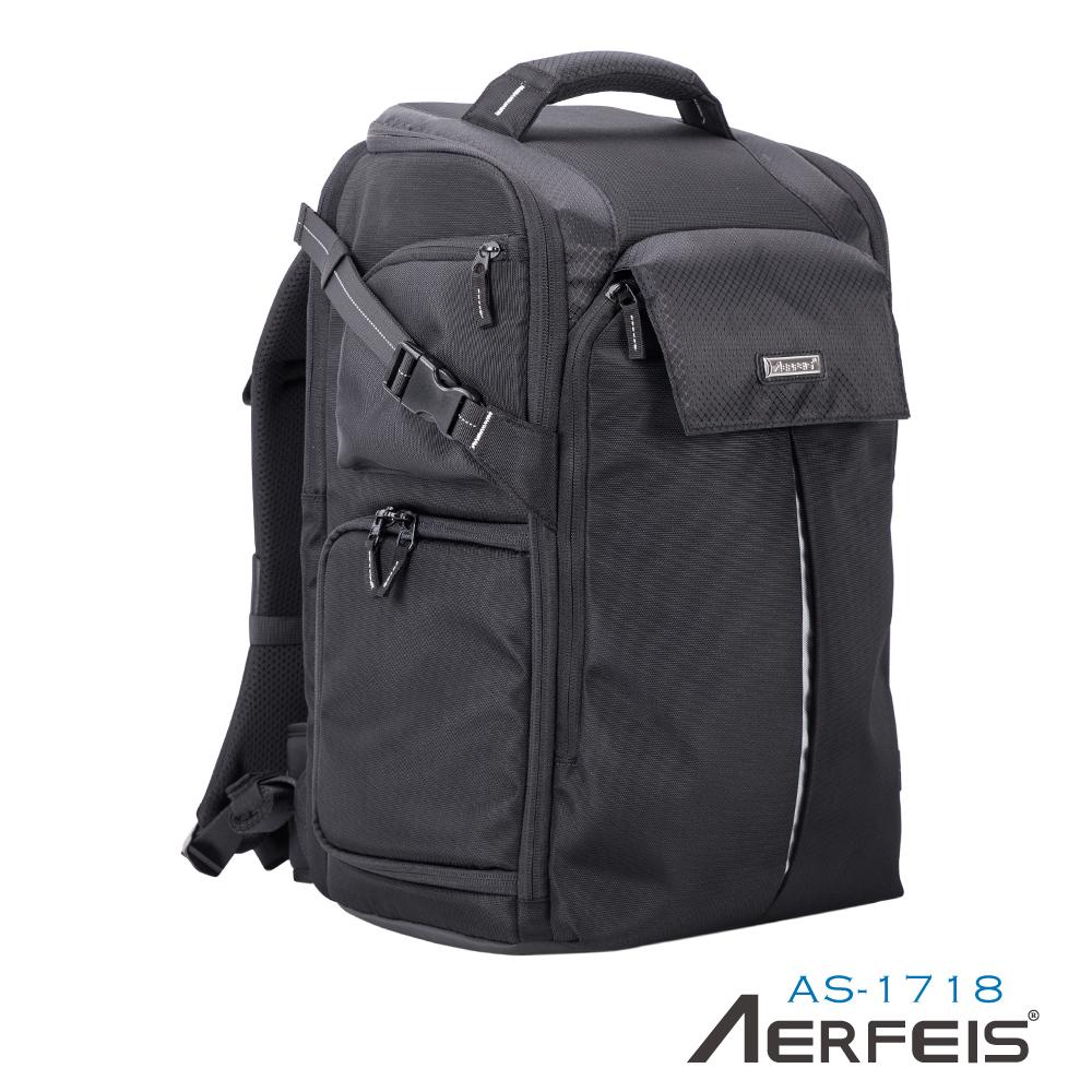 Aerfeis 阿爾飛斯 AS-1718 專業系列相機後背包 (可放空拍機)