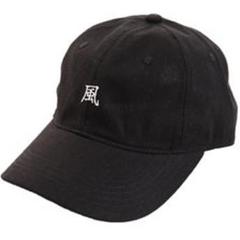 【Super Sports XEBIO & mall店:帽子】リネン刺繍キャップ KAZE 897PA9ST1723 BLK