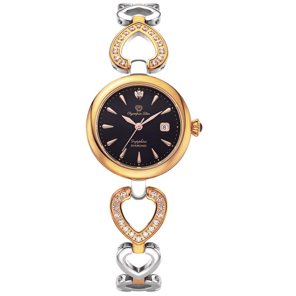 Olympia Star 奧林比亞之星 LOVE戀語珠寶腕錶 雙色x黑 28032DLSR