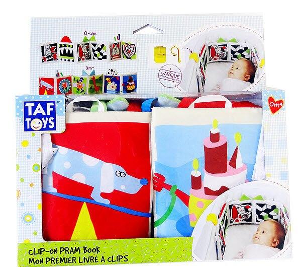 Taf Toys嬰兒双面黑白彩色床圍布書/掛飾 色彩認知專利產品