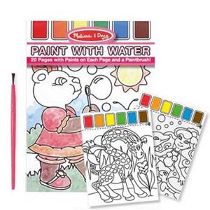 美國瑪莉莎 Melissa & Doug 水彩繪圖本, 附水彩及畫筆【粉紅色】