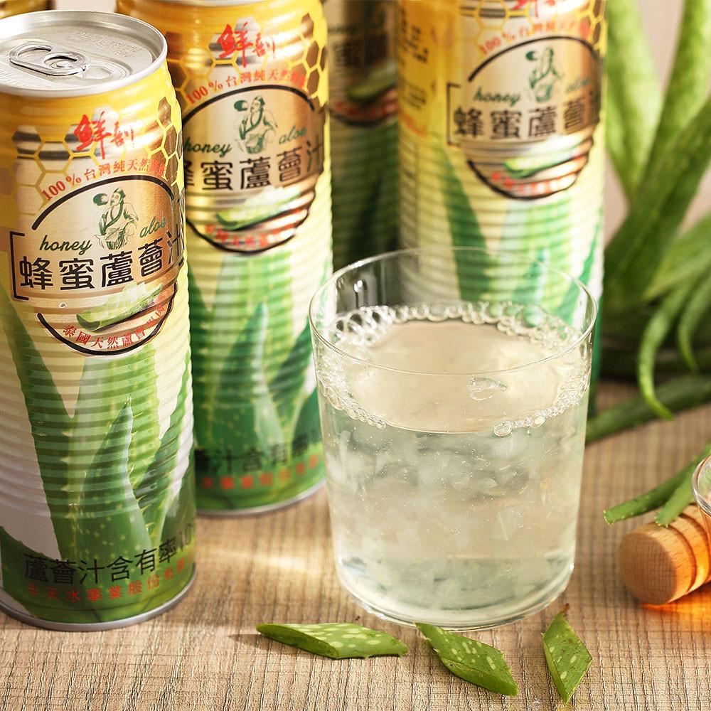 半天水鮮剖蜂蜜蘆薈汁520ml/瓶/易開罐