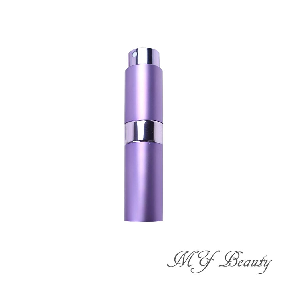 MYBeauty 時尚液體噴霧填充瓶 旅行分裝/隨身收納(玻璃管 旋轉收納款8ML - 紫色)