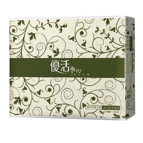 【史代新文具】優活Livi 綠波系列 120抽 抽取式衛生紙 (1箱72包)