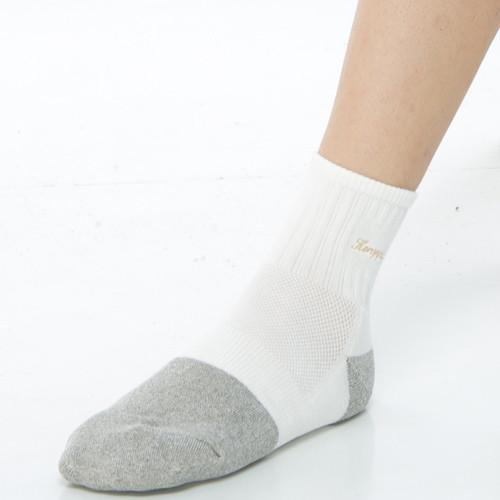 keroppa健康銀纖維運動短襪*1雙(男女適用)c98003g灰白