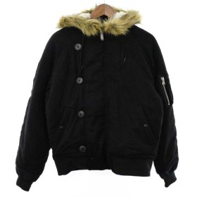 SUPREME(シュプリーム)Wool N-3B ファー付きウールN-3Bミリタリージャケット ブラック コート