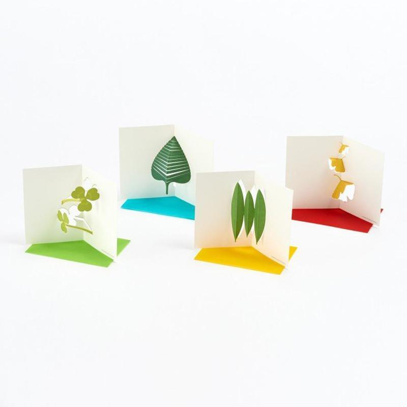 卡片 Leaves /Pop-up Message Card