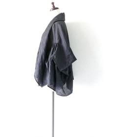 羽織れる ショール グレー