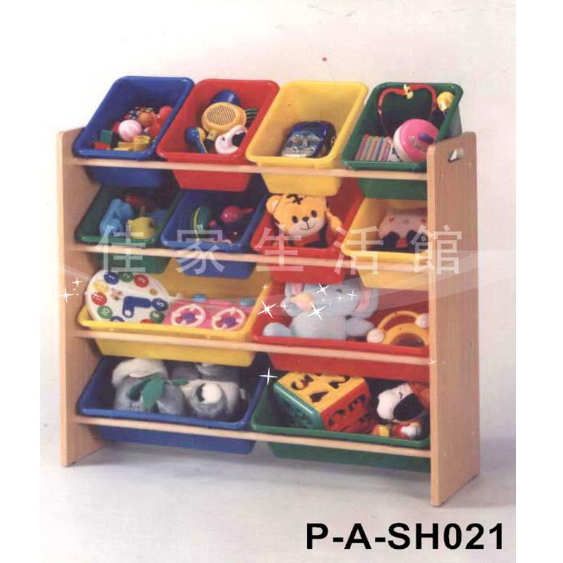 玩具收納架 四層玩具收納架《 佳家生活館 》孩子天堂 四層玩具收納架P-A-SH021附收納盒