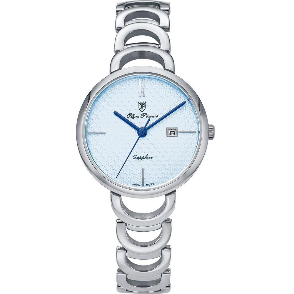 奧柏表 Olym Pianus  靜謐時光石英腕錶-藍 (2490LS)