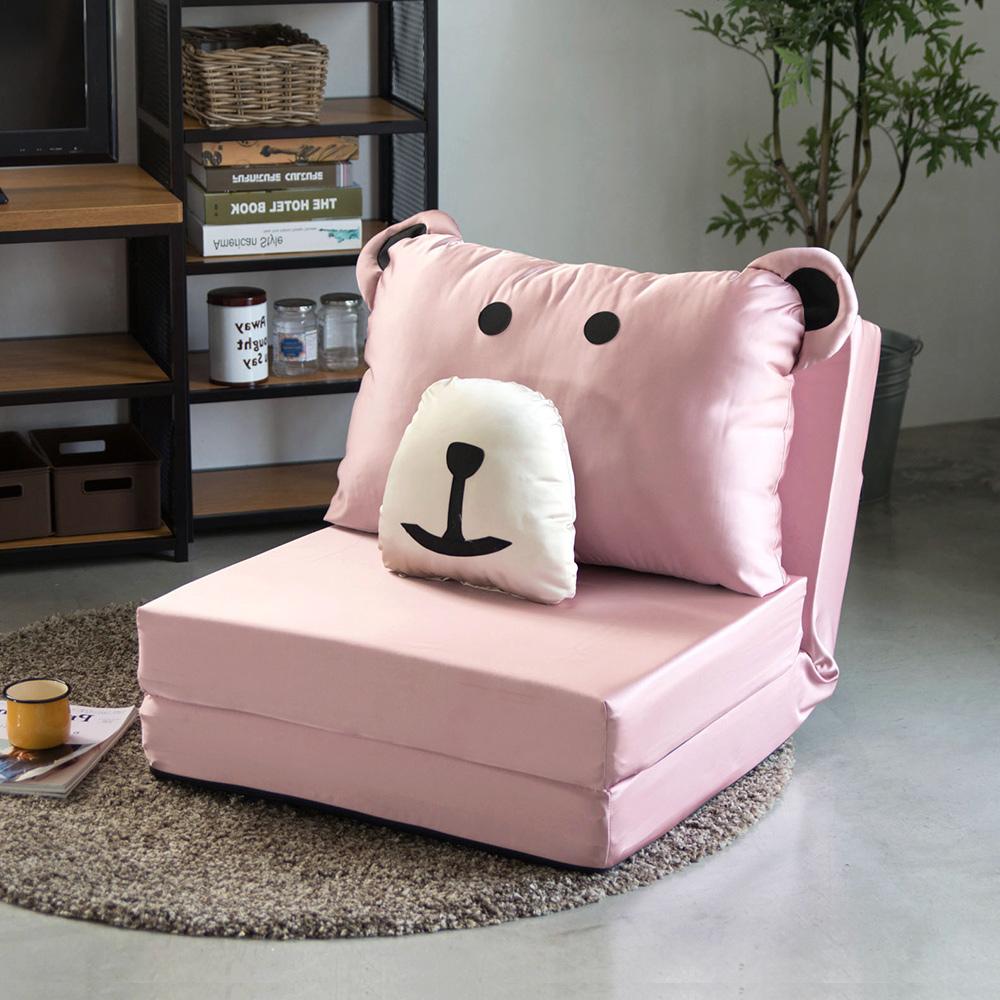 Peachy Life 日系彈力厚實小熊造型沙發床/和室椅(6色可選)