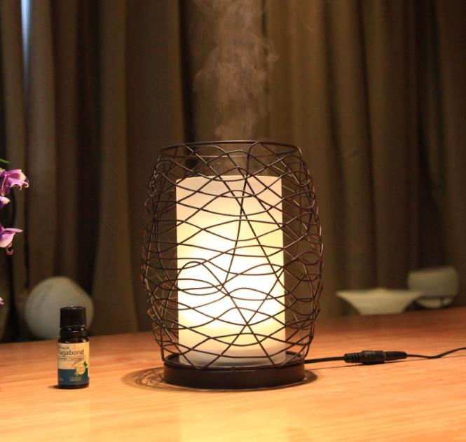 【保險+保固】蠟燭燈氛圍 超音波精油香氛水氧機 (附遙控器)