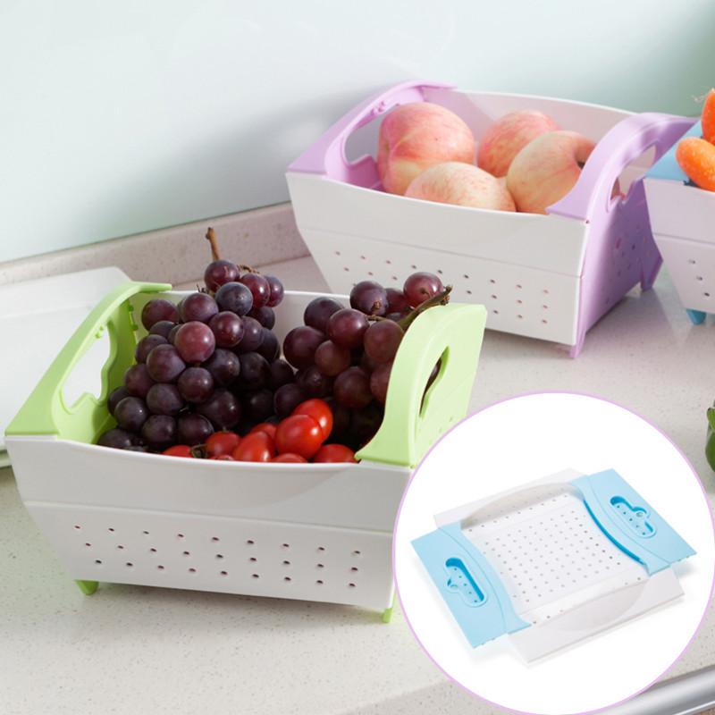 折疊蔬果收納瀝水籃