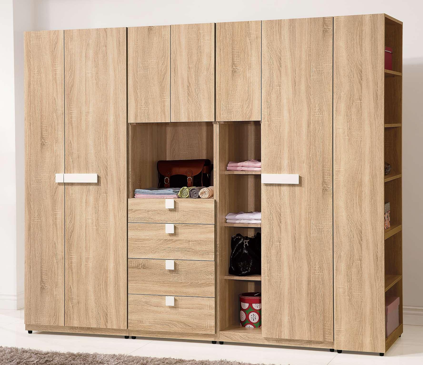 簡單家具,W313-5 多莉絲8尺組合衣櫃(全組),大台北都會區免運費