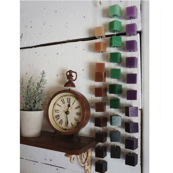 日本 dulton gradation candle 方形漸層色手工香氛蠟燭串 - 共兩款