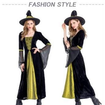 コスプレ レディース ハロウィン仮装 巫女 魔女 衣装 ドレス コスチューム 女性 コスプレ コスプレ衣装 大人用 オレンジ