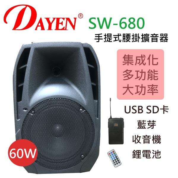 cts的店(sw-680) 擴音器含usb 座內置充電.大功率60w播放(腰掛)