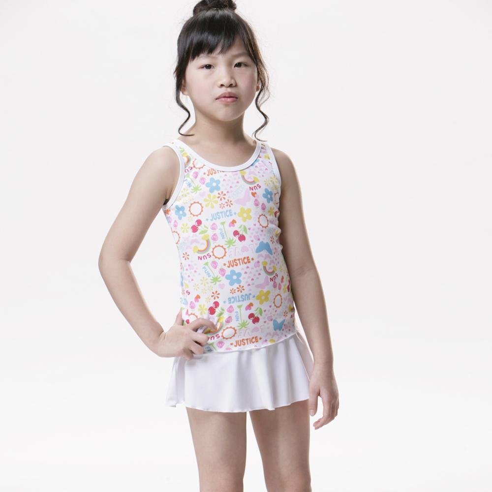 【SARBIS】MIT泡湯SPA女童兩截式泳裝附泳帽B82215