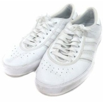 【中古】アディダスオリジナルス adidas originals スニーカー シューズ ローカット レザー メッシュ 27.5 白 ホワイト メンズ