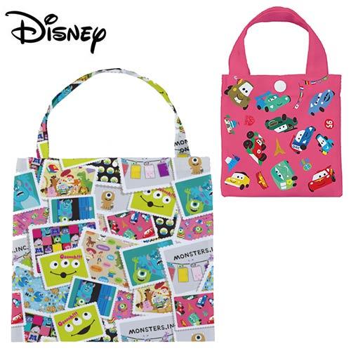 【日本正版】汽車總動員 摺疊 購物袋 環保袋 手提袋 防潑水 CARS 皮克斯 迪士尼 Disney - 900898