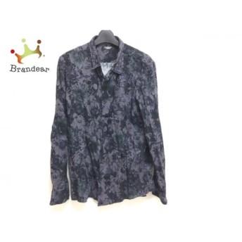 トルネードマート TORNADO MART 長袖シャツ サイズL メンズ 黒×パープル×ダークグレー 花柄 値下げ 20190820
