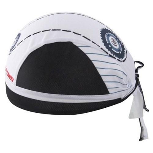 自行車頭巾抗紫外線運動頭巾-經典齒輪白海造型男女單車用品73fo43【米蘭精品】