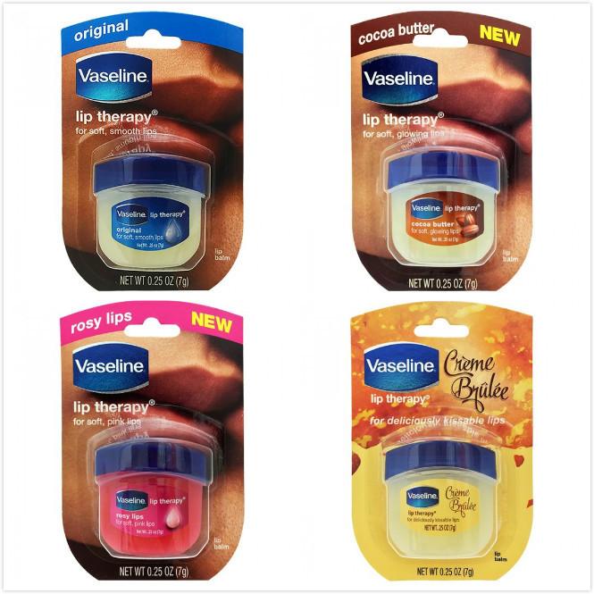 美國 vaseline罐裝護唇膏-4款(0.25oz/7g)*8
