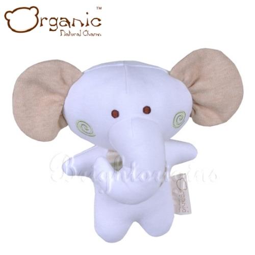 【Organic】有機棉嬰兒玩具-啾咪安撫娃娃(小象)