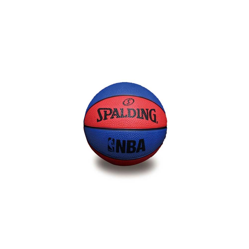 SPALDING NBA 一號籃球 迷你小球-斯伯丁 NBA 戶外 藍紅