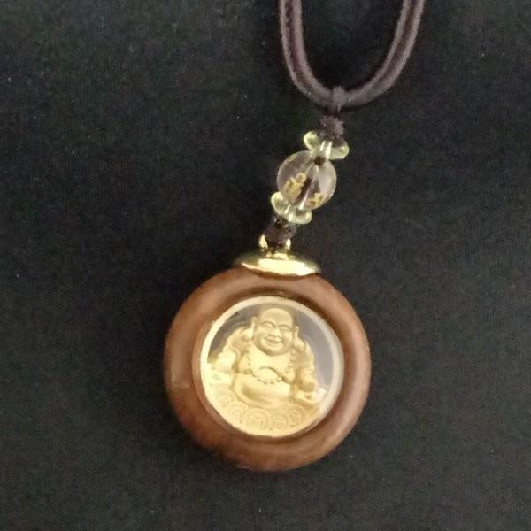 彌勒菩薩 彌勒佛 雙面 佛像 木質 項鍊
