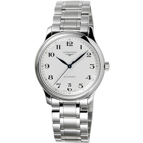 LONGINES 浪琴 巨擘系列大三針日期機械錶-38.5mm L26284786