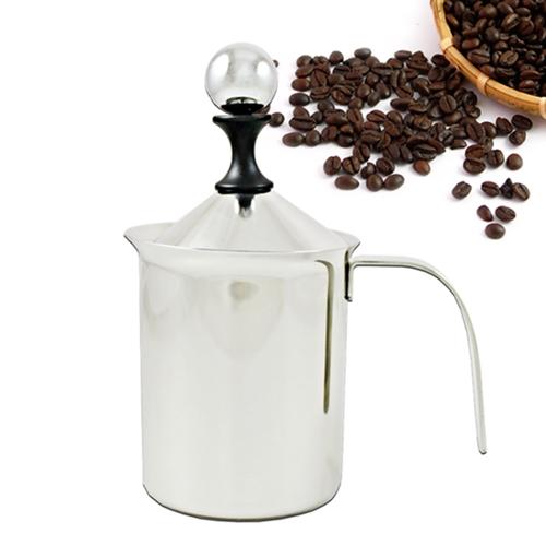 【三零四嚴選】#304不鏽鋼咖啡雙層奶泡杯 1入 (400ML/個)