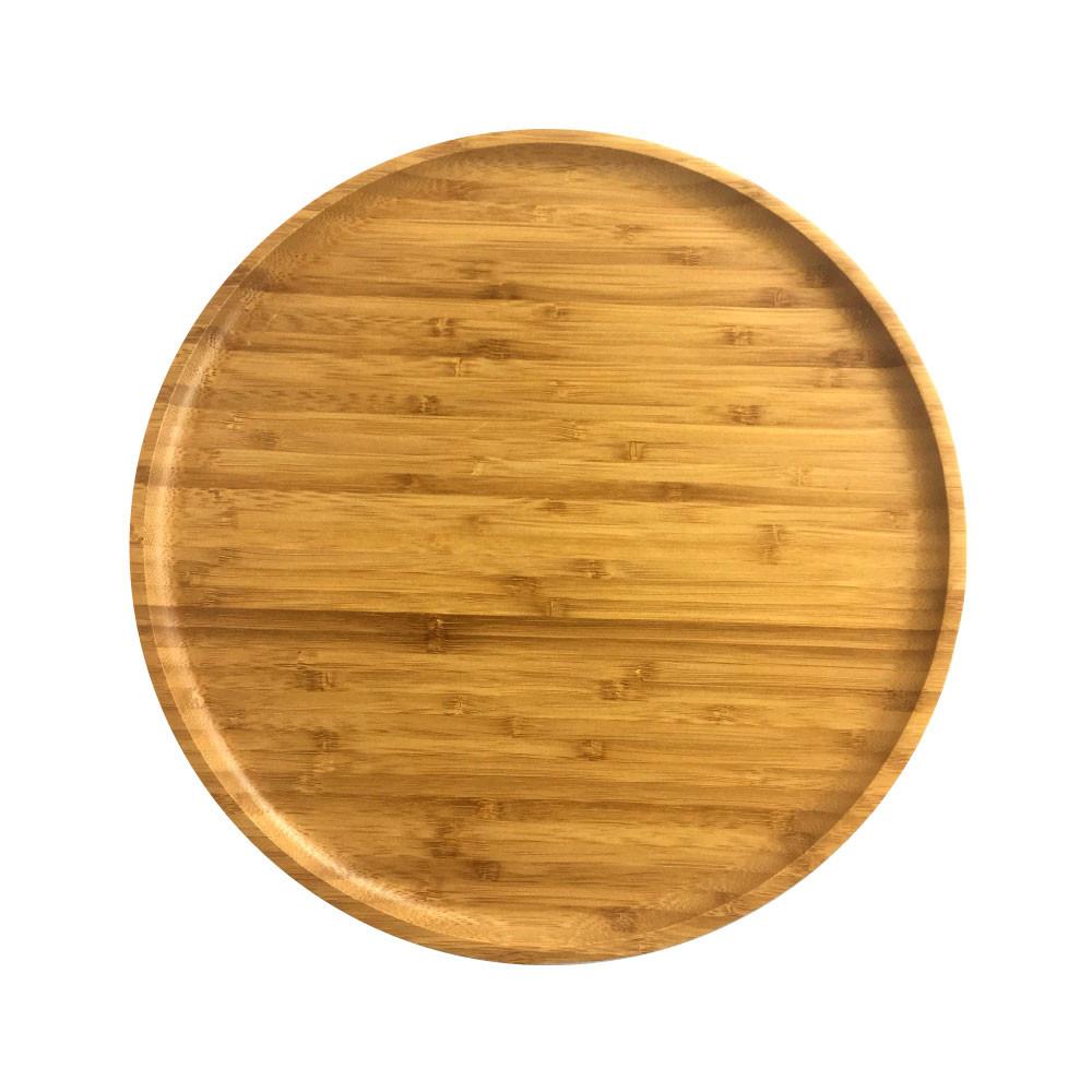 原然北歐風 鐵木坊竹製圓盤-大/ca7820/披蕯盤/廚房餐具/露營用品/水果盤/麵包盤