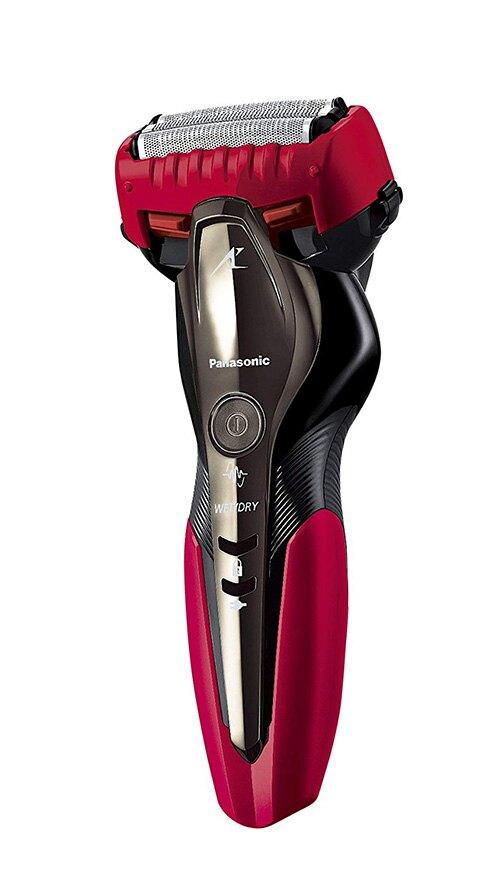 Panasonic【 日本代購】松下電動刮鬍刀 3刀片剃刀ES-ST2Q - 紅