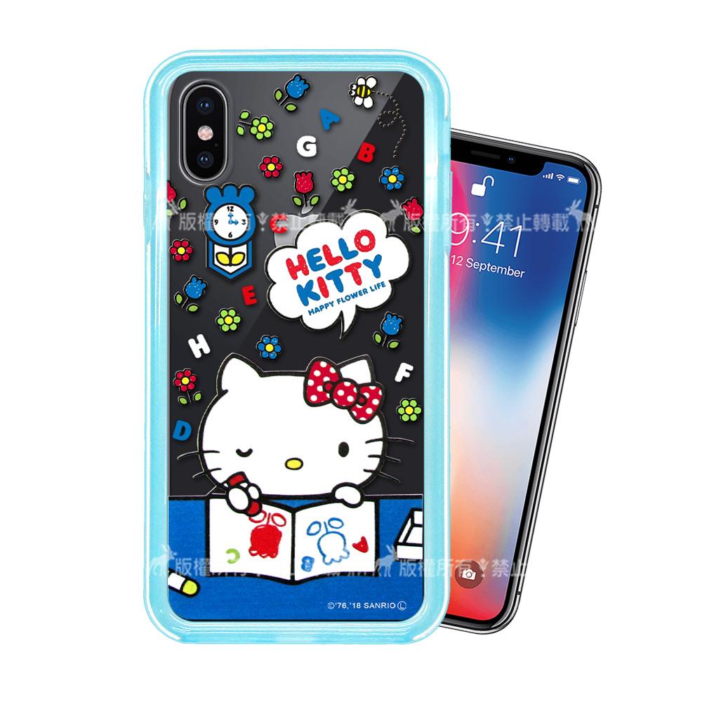三麗鷗授權 Hello Kitty貓 iPhone Xs / X 5.8吋 二合一雙料手機殼(KT畫畫)