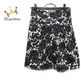 トゥモローランド TOMORROWLAND スカート サイズ36 S レディース 白×黒×パープル   スペシャル特価 20190927