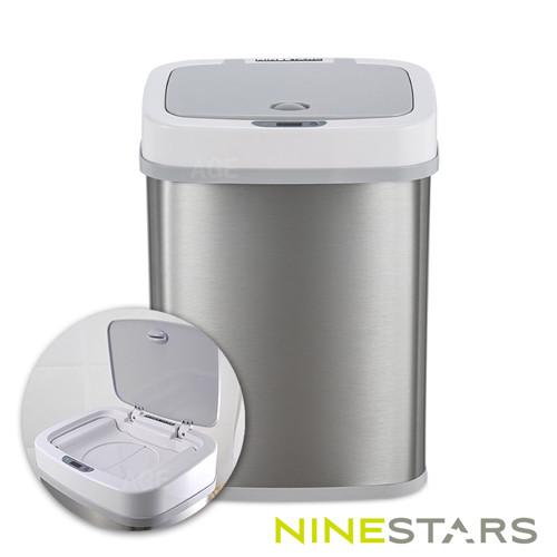 美國ninestars感應式尿布防臭垃圾筒npt-12-5極地白