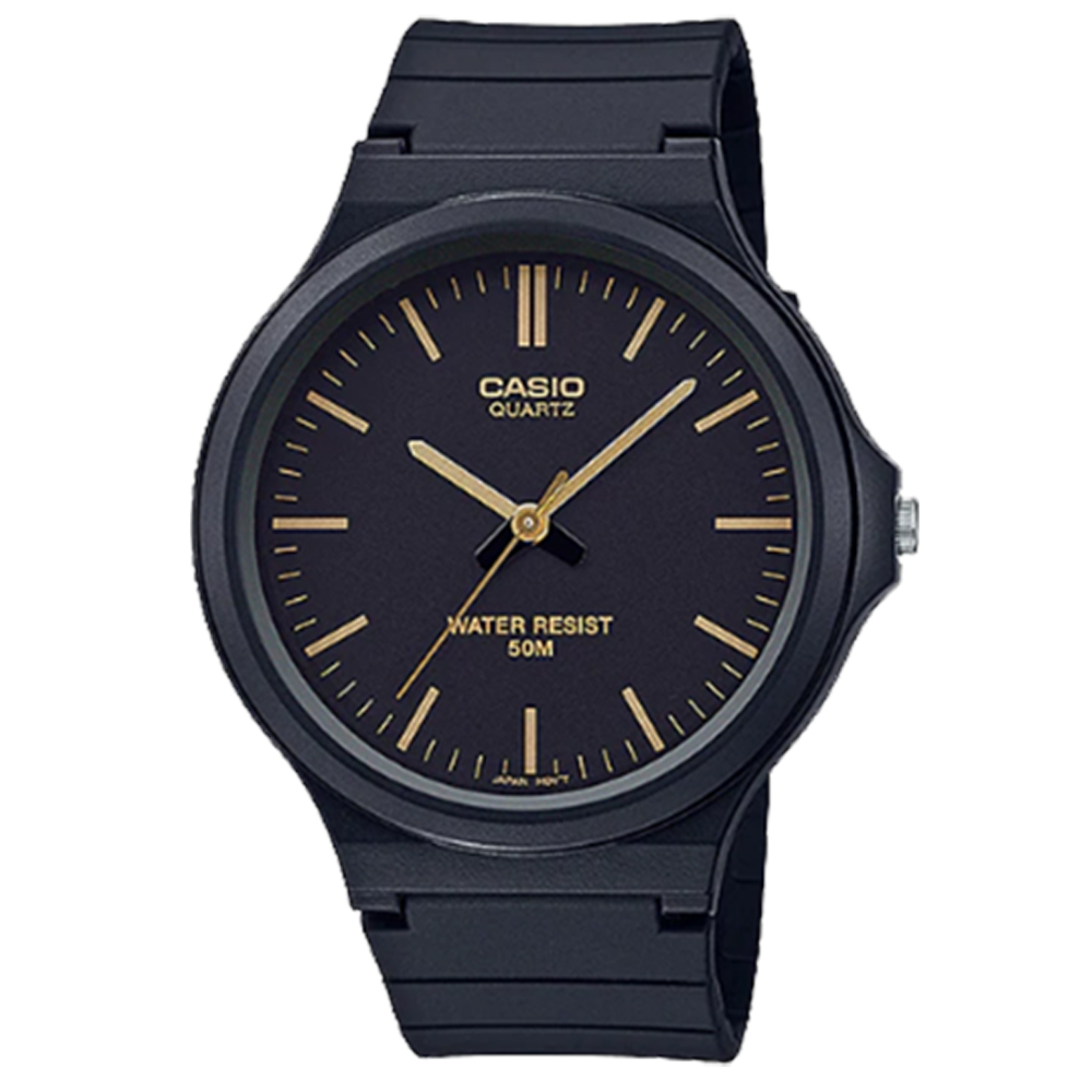 【CASIO 卡西歐】簡約指針錶 樹脂錶帶  防水50米 MW-240-1E2