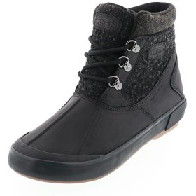 KEEN キーン レディース ウィンターブーツ Elsa II Waterproof Wool Ankle Boot エルサCWP BLACK/RAVEN ブラック