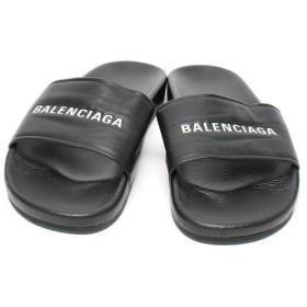 新品同様 バレンシアガ ラムレザー プール フラット シャワーサンダル 506347 メンズ SIZE 43 (M) Balenciaga 中古