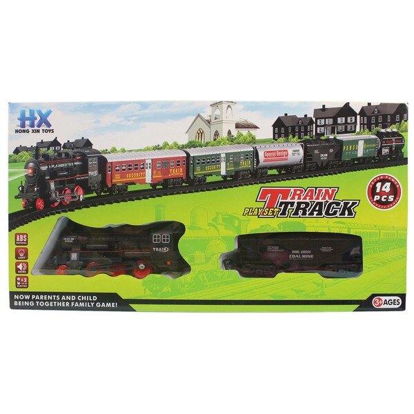 復古火車玩具 HX2015-11/20 電動軌道火車組(附電池)/一個入{促350} 火車軌道組~生