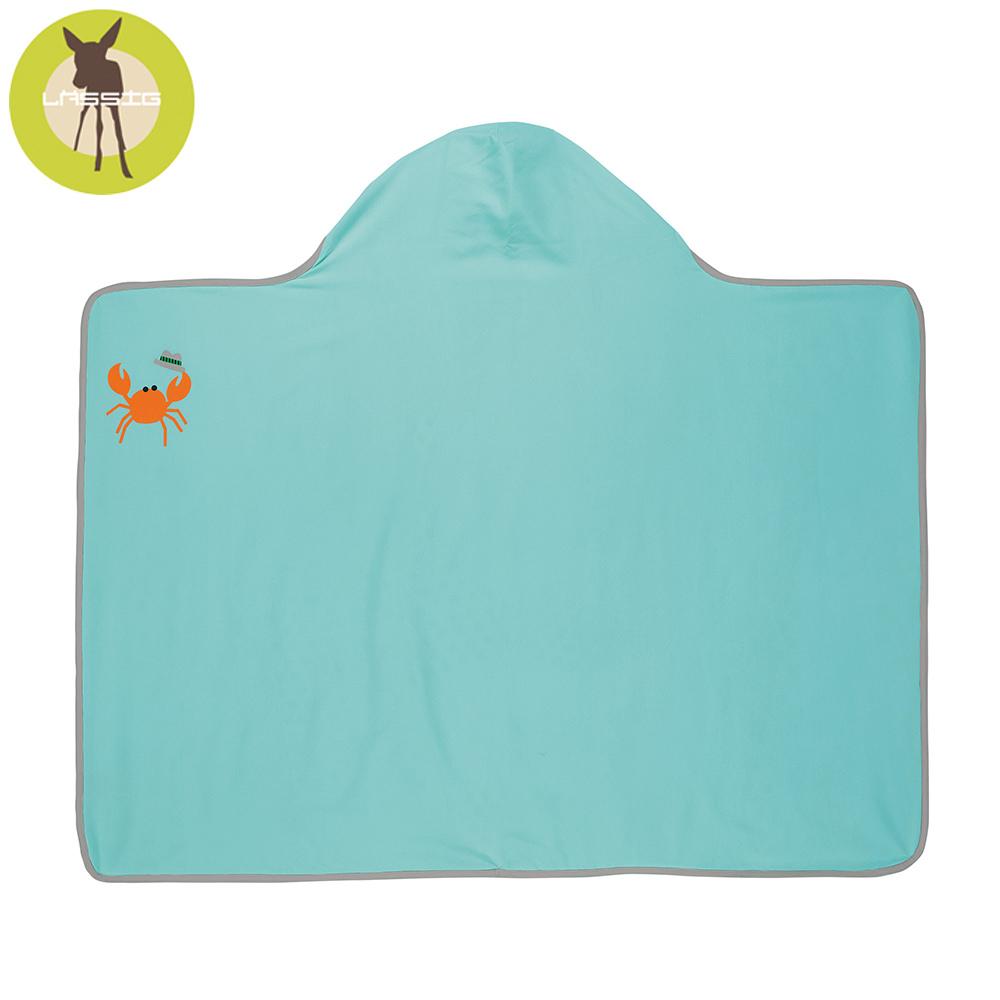 德國Lassig-嬰幼兒抗UV連帽快乾毛巾-小海星