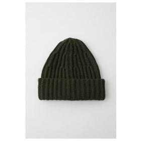 マウジー moussy RIBKNITCAP/リブニット帽 (グリーン)