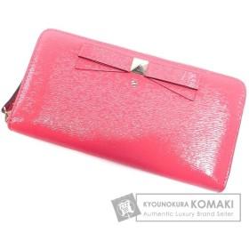kate spade ケイトスペード ロゴモチーフ 二つ折り財布(小銭入れあり) PVC レディース 中古