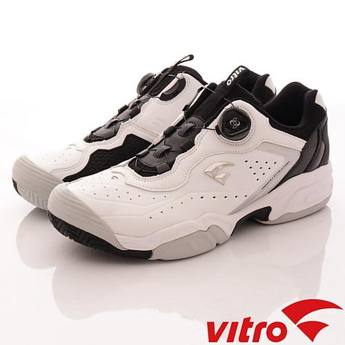 Vitro韓國專業運動鞋-TENNIS-DURNSFORD系列頂級專業網球鞋-黑白-男-25.5cm-28.5cm