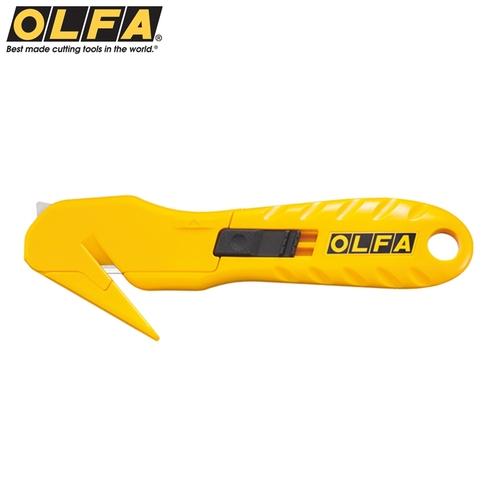 日本OLFA抗丙酮握把安全拆箱刀包裝繩切斷器SK-10(亦適左手)開箱刀包裝束帶膠帶封膜切割刀