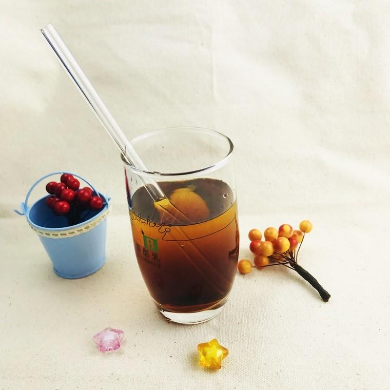 lohogo 8mm強化玻璃直桿果汁吸管/環保玻璃吸管/透明玻璃吸管/攪拌棒(1隻/1入)