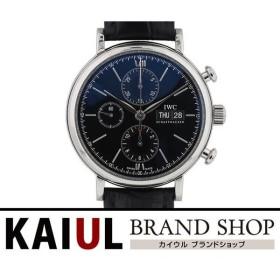 IWC ポートフィノ クロノグラフ IW391008 SS レザー ブラック 自動巻き メンズ 腕時計 SAランク